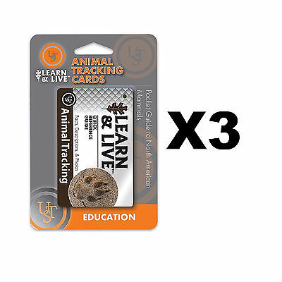 Ultimate Survival Technologies Learn & Live Animal Tracking Cards Guide (3-Pack)