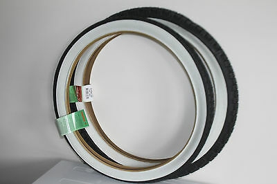 Bike Dragster Tyres  Bicycle  White Wall  Front 20x1.75 Rear 20 x 2.125 Lowrider