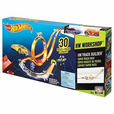 Hw Track Builder Super Track Set With 2 Cars;new