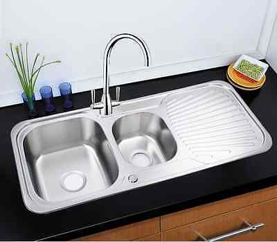 Highest Quality 304 Stainless Steel Reversible 1.5 Bowl Kitchen Sink