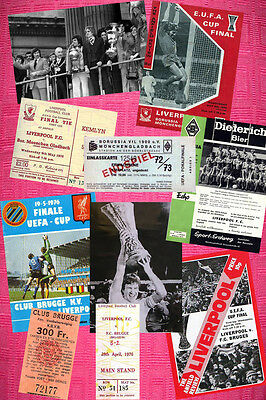 Amazing ! Liverpool 8 European Cup Ticket Photo & Programme Cover 28 Items!!!!