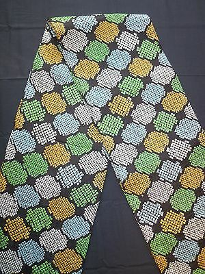 Vintage authentic Japanese fukuro obi for kimono, mixed colours, silk (K590)