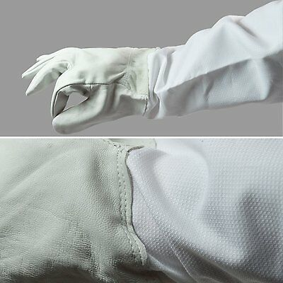 Goatskin Bee Keeping Gloves with Vented Cloth Sleeves-  SIZE L & XXL