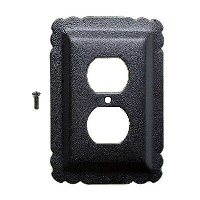 Switchplate Black Steel Outlet RSF | Renovators Supply