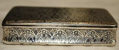 Beautiful Antique French Silver Hallmarked Snuff Box