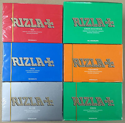 RIZLA Regular Rolling Papers Box of 100 Booklets, Rizla Red for 19.99 Only