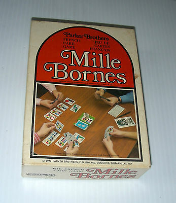 MILLE BORNES  Parker Brothers french card game road travel 1971 complete exc