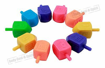 10 Tradition MIx Dreidels Kids toy Gift Jewish Hanukah Child game Israel Holiday