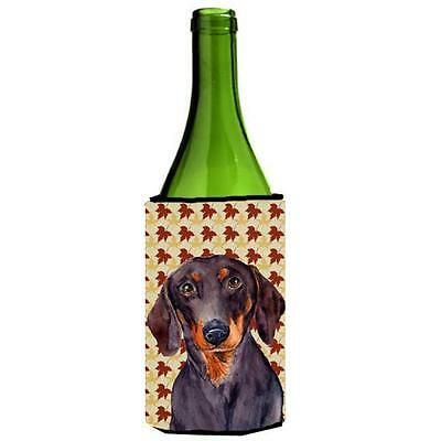 Carolines Treasures Dachshund Fall Leaves Portrait Wine Bottle Hugger