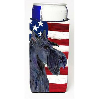 Usa American Flag With Scottish Terrier Michelob Ultra s For Slim Cans 12 oz.