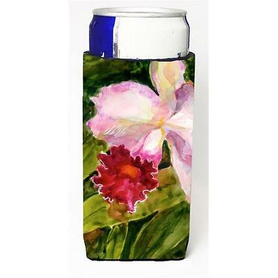 Carolines Treasures Flower Orchid Michelob Ultra s For Slim Cans 12 oz.