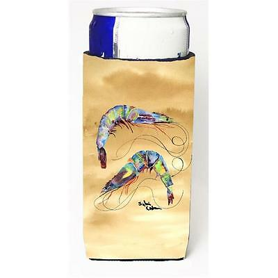 Carolines Treasures Shrimp Sandy Beach Michelob Ultra s For Slim Cans 12 oz.
