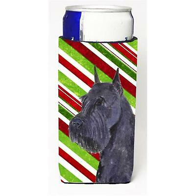 Schnauzer Candy Cane Holiday Christmas Michelob Ultra bottle sleeves For Slim...