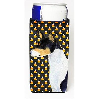 Basenji Candy Corn Halloween Portrait Michelob Ultra s For Slim Cans 12 oz.