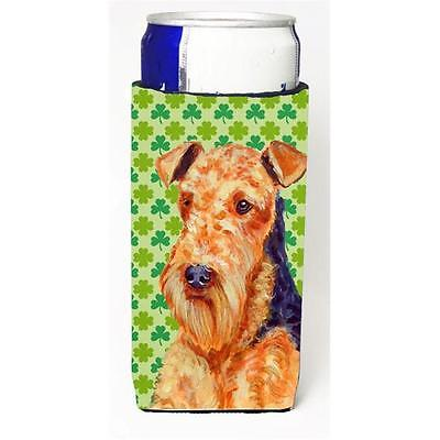 Airedale St. Patricks Day Shamrock Portrait Michelob Ultra bottle sleeves for...