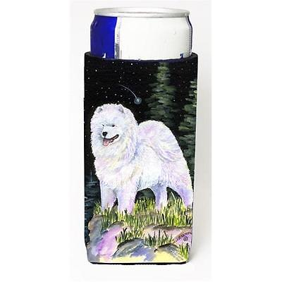 Starry Night Samoyed Michelob Ultra bottle sleeves For Slim Cans 12 oz.