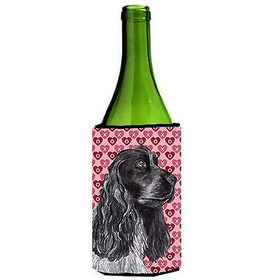 Cocker Spaniel Valentines Love Wine bottle sleeve Hugger 24 oz.