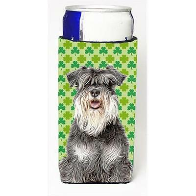 St. Patricks Day Shamrock Schnauzer Michelob Ultra bottle sleeves for slim cans