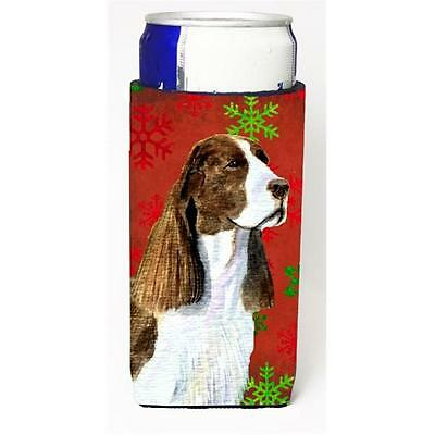 Springer Spaniel Red And Green Snowflakes Holiday Christmas Michelob Ultra bo...