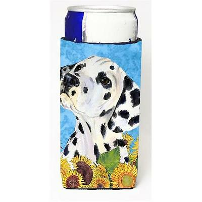 Dalmatian In Summer Flowers Michelob Ultra bottle sleeves For Slim Cans 12 oz.