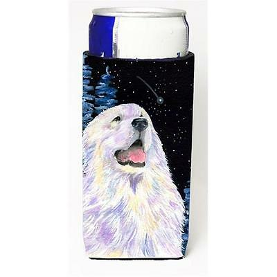 Starry Night Great Pyrenees Michelob Ultra bottle sleeves For Slim Cans 12 oz.