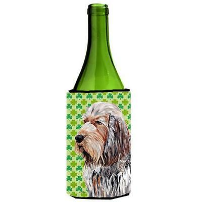 Otterhound Lucky Shamrock St. Patricks Day Wine bottle sleeve Hugger 24 Oz.