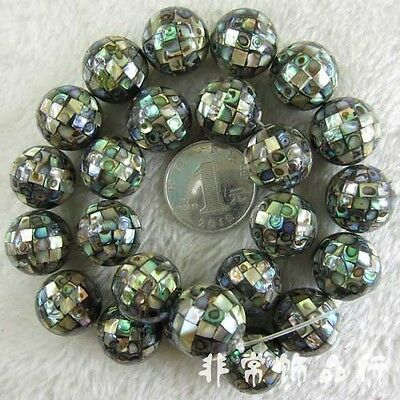 10-14mm Round Abalone Shell Beads Loose Gemstone Beads for Jewelry Making 1PCS