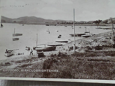Real Photo Postcard Kippford, Kirkcudbrightshire