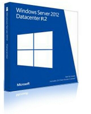 MS Microsoft Windows Server 2012 R2 Datacenter ESD Produkt-Key 2CPU 2VMs OEM
