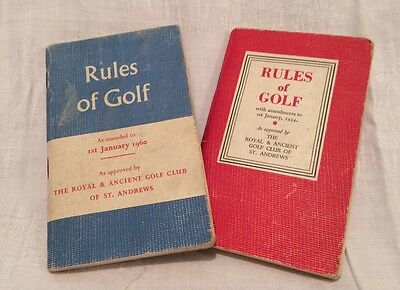 Two Vintage Pocket Size Rules of Golf Books