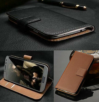 Luxury Genuine Real Leather Flip Case Wallet Cover For Various Phones