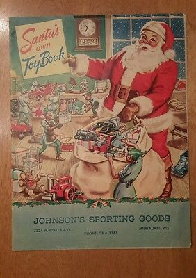 """Santa's own Toy Catolog  Johnson""""s Sporting Goods  1952 Must See"""