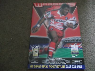 Wigan V Castleford Tigers Super League Qualifying Play Off 19Th September 1999