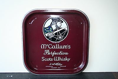 McCallum's Scots Whisky Vintage 1970's Advertising Pub Bar drinks tray Retro