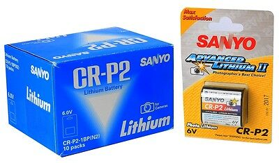 X 10 SANYO Battery 6V CR-P2 Lithium  for analogic photography camera use by 2017