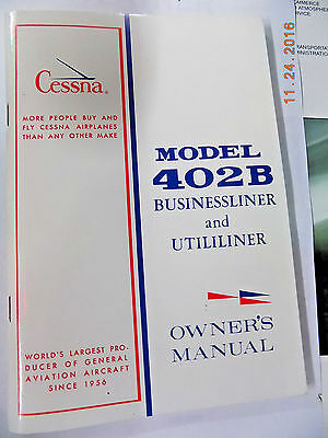 New Cessna 402B PN#D1509-13 Owner's Manual (SN# 501 and on)