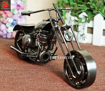 Colletable Harley Motorcycle Model Handmade Craft Gift Home Bar Decor Sculpture