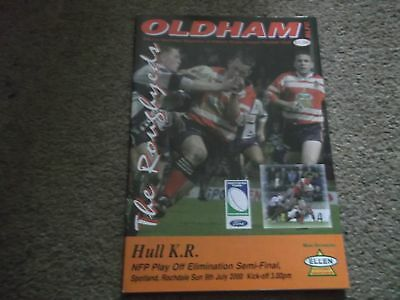 Oldham Roughyeds V Hull Kr Nfp Play Off Elimination Semi Final 9Th July 2000