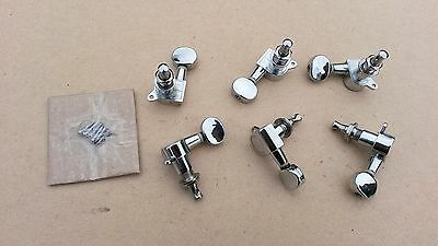 Set of 6 in a row diecast type electric guitar Machine Head Tuners