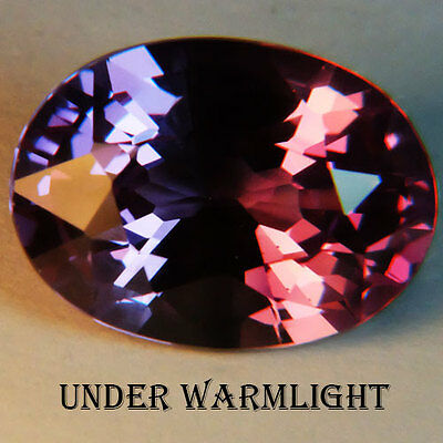 8.10ct.AWESOME RUSSIAN COLOR CHANGE ALEXANDRITE OVAL  GEMSTONE