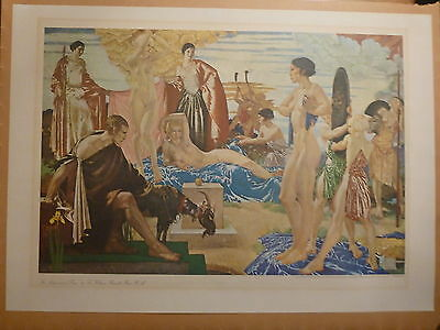 William Russell Flint - The Judgement of Paris - Limited Edition Print 1973