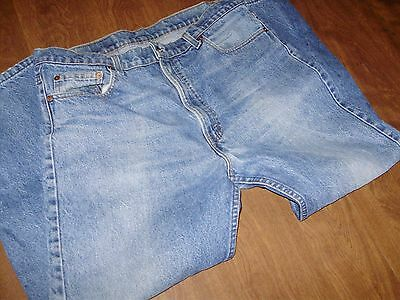 VINTAGE LEVIS 505 STRAIGHT FIT JEANS made in USA 34 x 27 actual fit NICE PATINA
