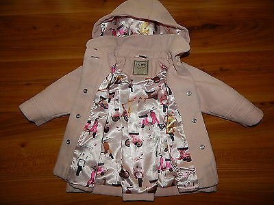 NEXT girls pink SCOOTER duffle coat 9-12 months *I'll combine postage