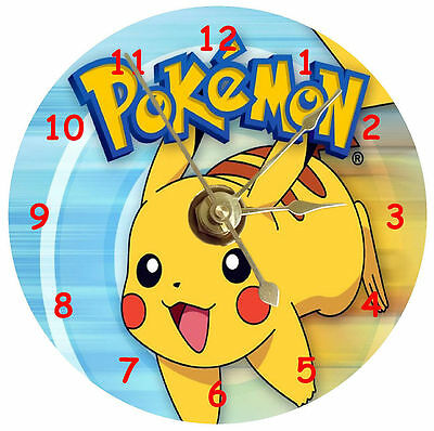 Pokemon on a cd clock plus free stand and can be personalised