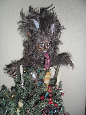 KRAMPUS Tree top -  Handmade Collectable