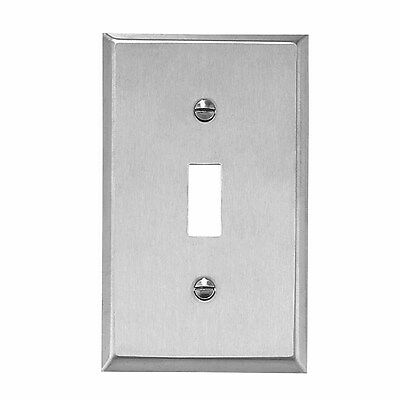 Switchplate Brushed Stainless 1 Toggle Or Dimmer  | Renovators Supply