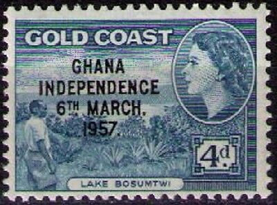 GHANA ~ 1957 Independence Issue 4d Blue. sg#176. MNH