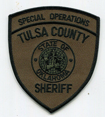 Tulsa County Oklahoma Sheriff Special Operations Patch /// SWAT