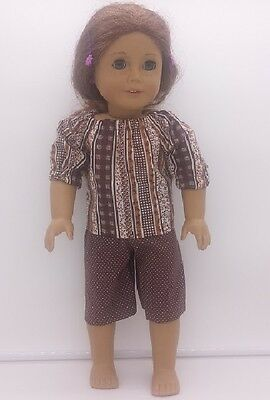 """18"""" Doll Brown Capri Set Fits AMERICAN GIRL Homemade Doll Clothes"""