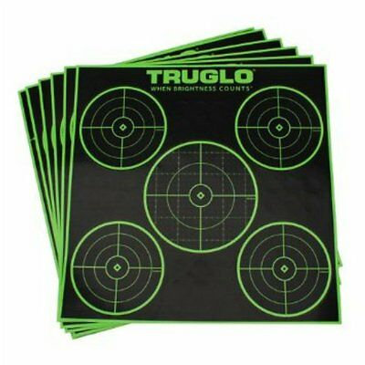 pack of 6 Truglo Tru See targets for rifle, pistol or shotgun shooting